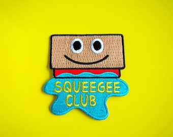 Squeegee Club Patch, Screenprinting Patch, Printmaking Patch, Cute Craft Patch, Jacket Patch, Squeegee Iron On Patch, Silkscreen Patch