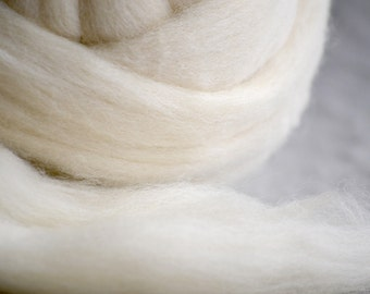 100% Wool Roving (core)- 34 Micron - Perfect Core Roving for Needle Felting