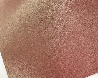 A4 sheet Rose Gold Pink Smooth Faux Leather fabric
