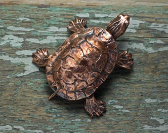 Copper Turtle Sculpture