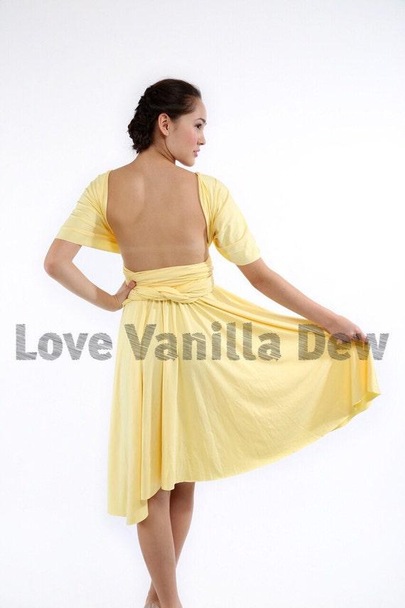 Lemon Yellow Knee Length Dress