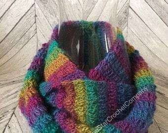 Crochet Infinity Scarf / Crochet Pattern / Crochet Scarf / Crochet Scarf Pattern / Instand Download / Crochet PDF file / Handmade Scarf