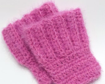 Ready to ship angel hair boot cuffs.  Pink boot toppers.  Teen adult boot socks.