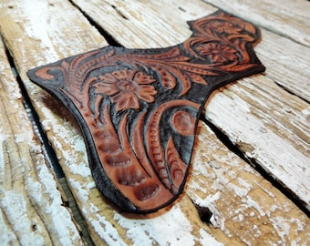 Leather Pick Guard For Gibson J200 / Acoustic Pick Guard / Carved Leather Pickguard / Gibson Pickguard / Pickguard Acoustic