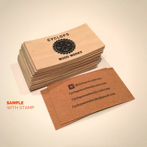 Wood business cards set of 100 blank wood cards wood tags 3250 reheart Gallery