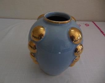 Rare Vase French 1950's Art Deco sign ODYV number 505