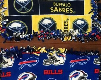"Buffalo teams  / fleece blanket  20"" x 26"""