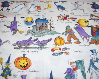 "Halloween Fabric ""Old Devil Moon"" by Nicole De Leon for Alexander Henry 1995 By The Yard"