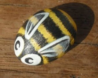 Bee Cute  Handpainted Magnet rock painting handpainted stone miniature painted rock