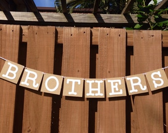Personalized Banner - Brothers - Chipboard Cardstock