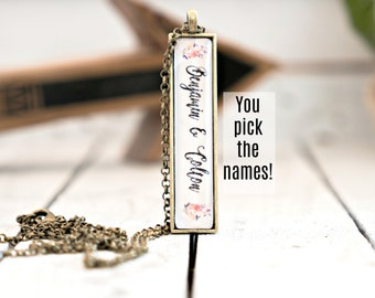 Mother's Day Gift Ideas; Custom Necklace, Necklace with kids' names, Necklace with custom names, Custom Pendant