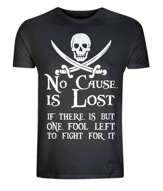 Eco Organic T-shirt - Eco Friendly, Ethical, Sustainable - Pirate Tee - Putting The Naughty Into Nautical - Eco Tee size XS-5XL