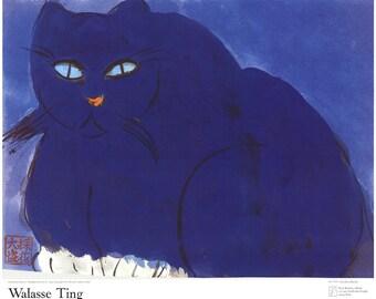 Walasse Ting-Blue Cat-1987 Poster