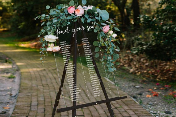 wedding seating chart sign acrylic wedding signs lucite
