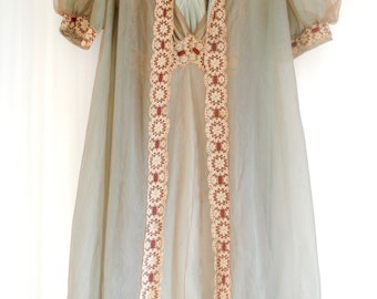 Vintage 1960's Nightgown & Bed Jacket