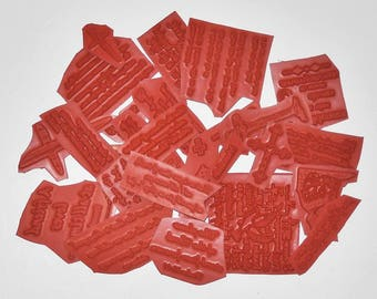 1/2 pound of Christian Scripture stamps! 30+ stamps! unmounted red rubber grab bag from Sweet Grass Stamps, bible verses, religious