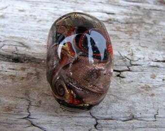 Murano glass ring-Lampwork ring-Venetian glass jewelry-statement glass ring-Anello in vetro-Bague en verre-Anello in vetro