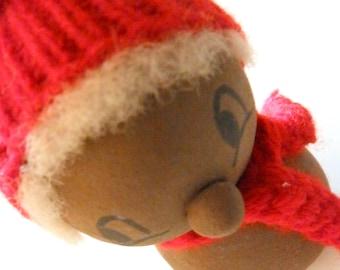 "1960s Danish Christmas Tomte/Elf--By Jette Nissen / Danmark--5-1/2"" High x 2"" Diameter--RARE"