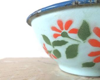 Enamelware, French enamelware, French vintage bistro bowl