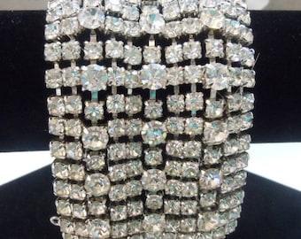 "KRAMER 2"" Rhinestone Bracelet - all stones bright & lively - like new!"