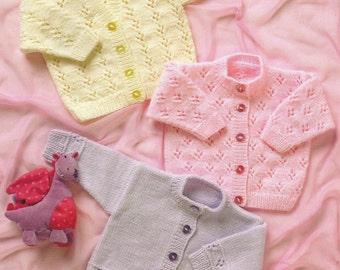 Instant Download - PDF- Pretty Baby Cardigan Knitting Pattern  (16)