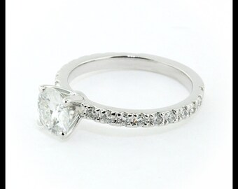 Moissanite Engagement Ring Diamond Band