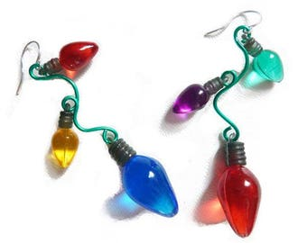 Quirky Christmas Lights Earrings