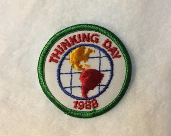 Vintage 1988 Girl Scout Thinking Day Patch