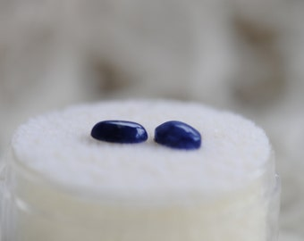 Natural  Blue   Lapis  Gemstone   2- 6x4 Oval