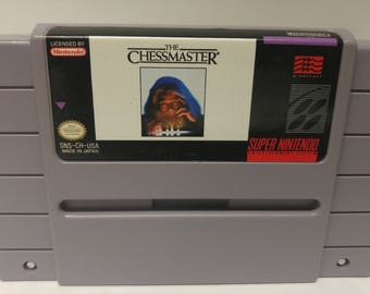 Super Nintendo Chessmaster Game Authentic