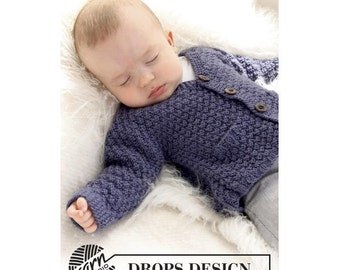Knit Baby Cardigan - Merino, Alpaca or Organic cotton Jacket for babies