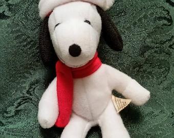Snoopy Stuffed Christmas Ornament