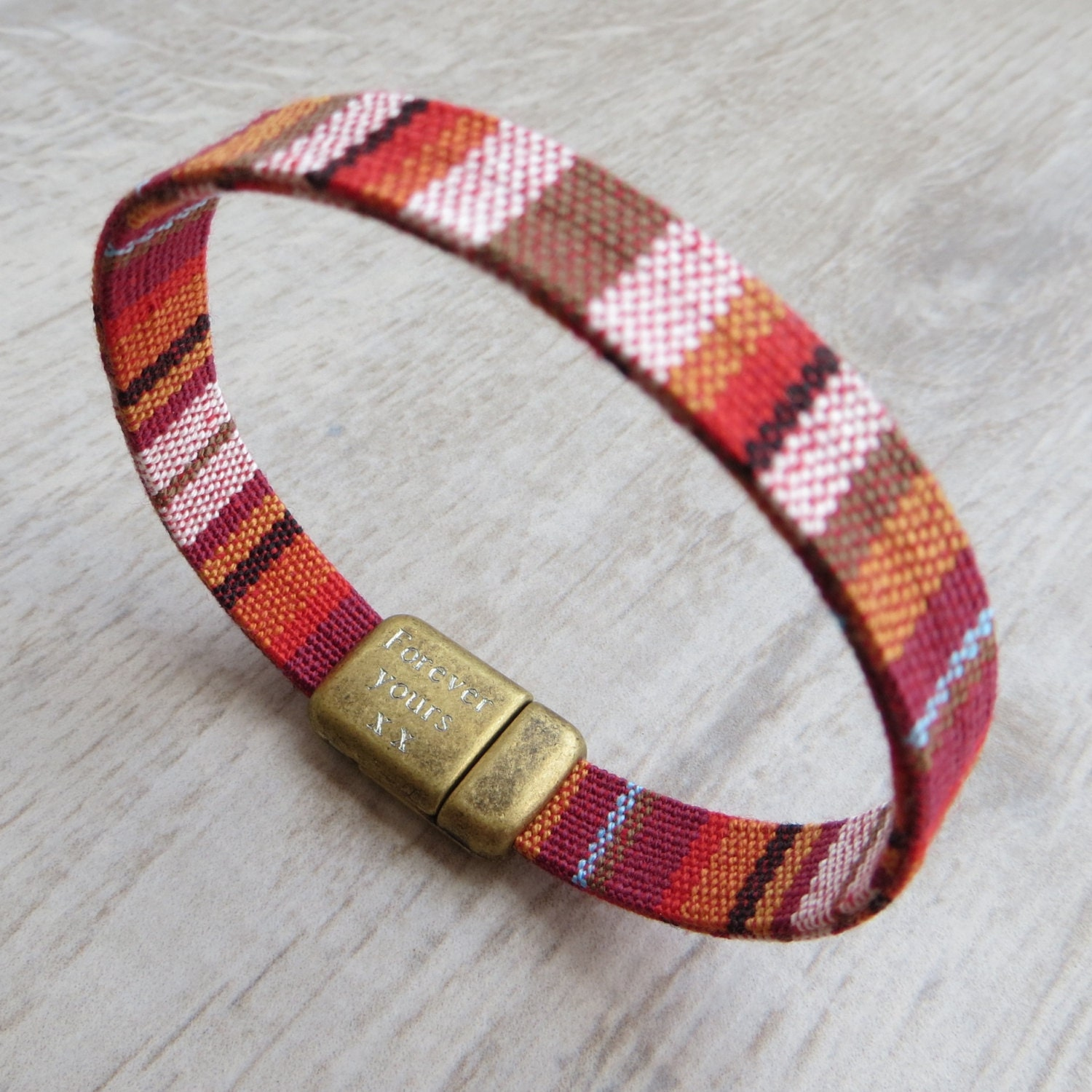 store bracelet bracelets print front africa cuff green red african index cloth orange