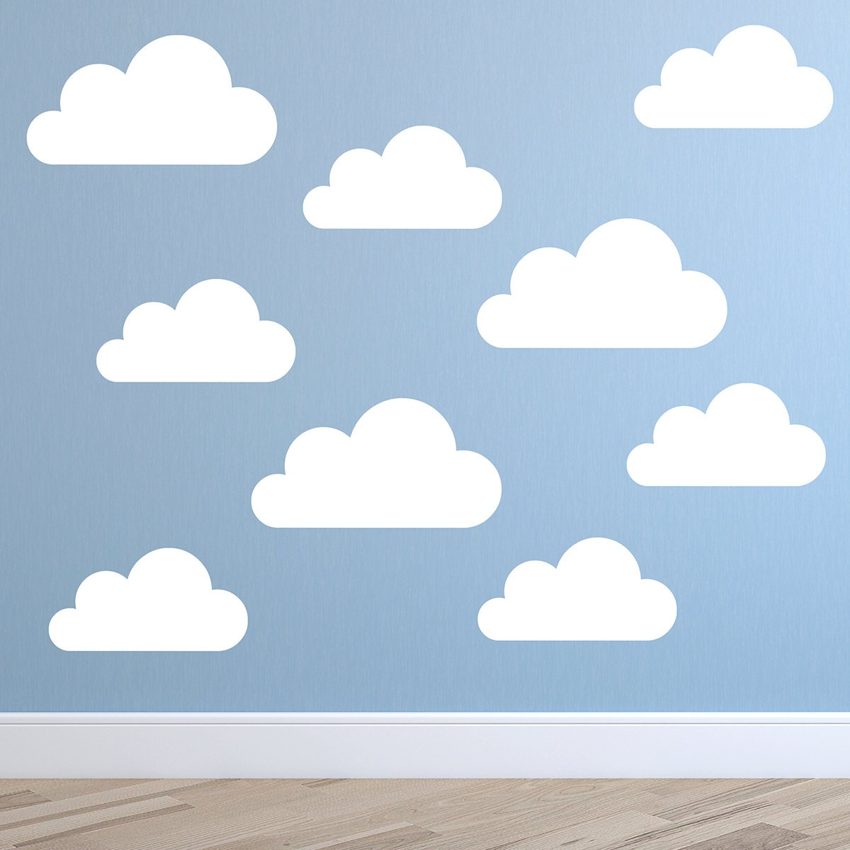 Set of Large Clouds Wall Decal Nursery Wall Decal Childs