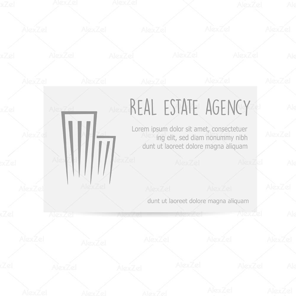 Real estate company logo business card template, Realtor logo ...