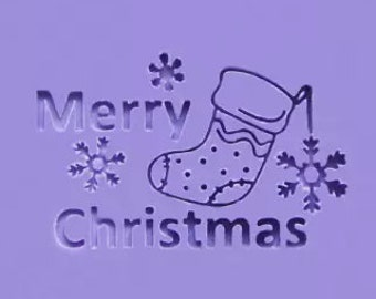 Merry Christmas Soap Stamp Christmas stocking Soap Stamp Christmas Snowflake Soap Stamp