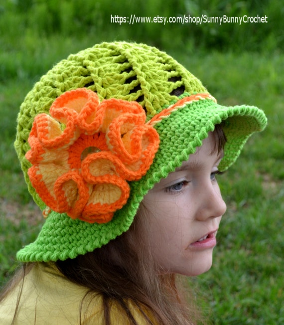 Crochet Pattern Child Crochet Woman Hat Summer Hat Pattern Girl