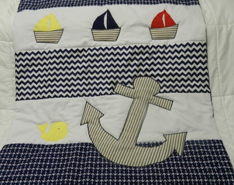 Sail boats and Anchor quilt