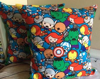 Kawaii heros Pillow Slip Cover