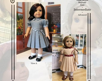 """PDF Pattern KDD14 """"Bodice Details"""" -An Original KeepersDollyDuds Design, makes 18"""" doll Clothes"""