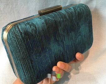 Handwoven Bibah Songket Clutch  Purse Minaudier
