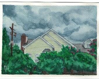Summer Storm - Original - 4.5x6in