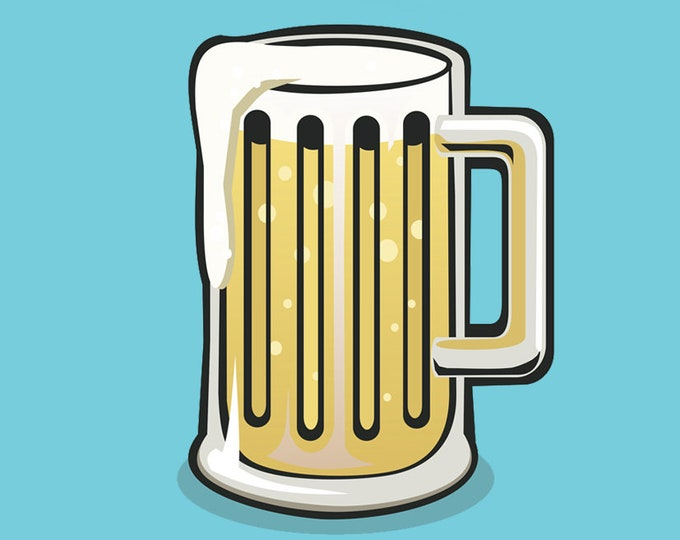 beer stein glass clip art, craft beer art, royalty free clip art, INSTANT DOWNLOAD