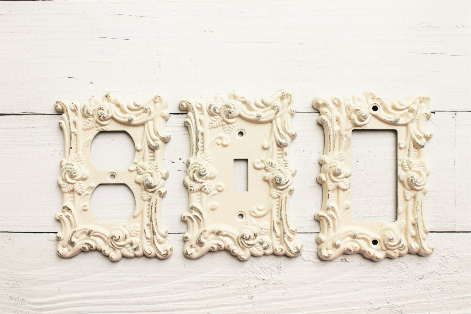 Decorative Wall Plates For Light Switches Endearing Metal Wall Decor Light Switch Cover Creamy Off White Rocker Decorating Design