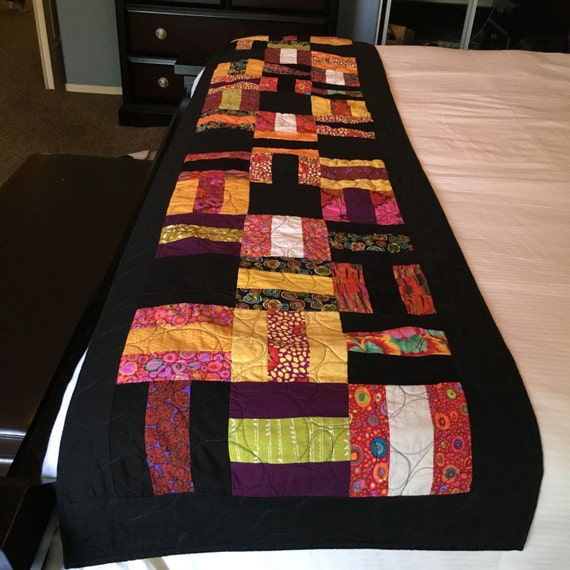 BLOCKED OUT - Custom Hand Quilted Bed Runner