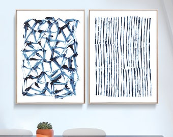 Set Of 2 Prints, Abstract Art Prints, Large Wall Art, Printable Abstract Art