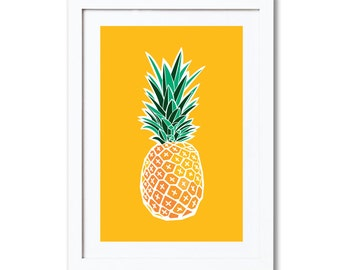 "Pineapple, A4 8x10"" A3 or 11x14"", printed"