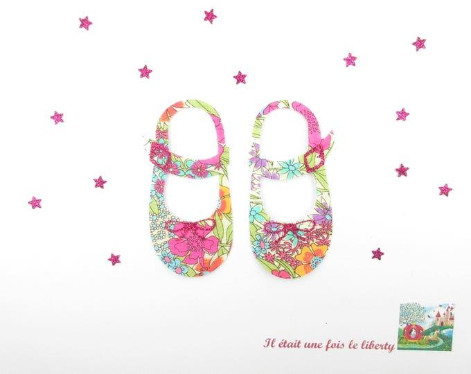 Applied fusing shoes girl baby liberty liberty Ciara summer glitter flex fusible motif applique patch