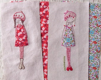 lavender girl hand embroidery pattern PDF