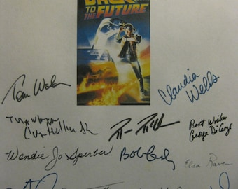 Michael J Fox Back To The Future Signed Film Movie Screenplay Script X20 Autographs Christopher Lloyd Lea Thompson Crispin Glover Billy Zane